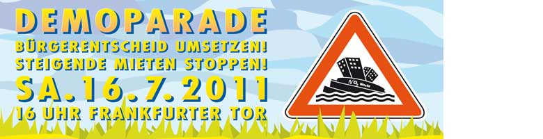 Grafik Banner der Spreeparade 2011 in Berlin